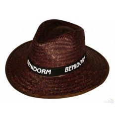 Sombrero de Paja Oscura para Eventos Personalizado - Imagen de Portada