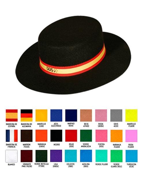 ea7e1aa8eb3 Sombrero de Paja Cordobés con Publicidad Merchandising- Colores de la Cinta