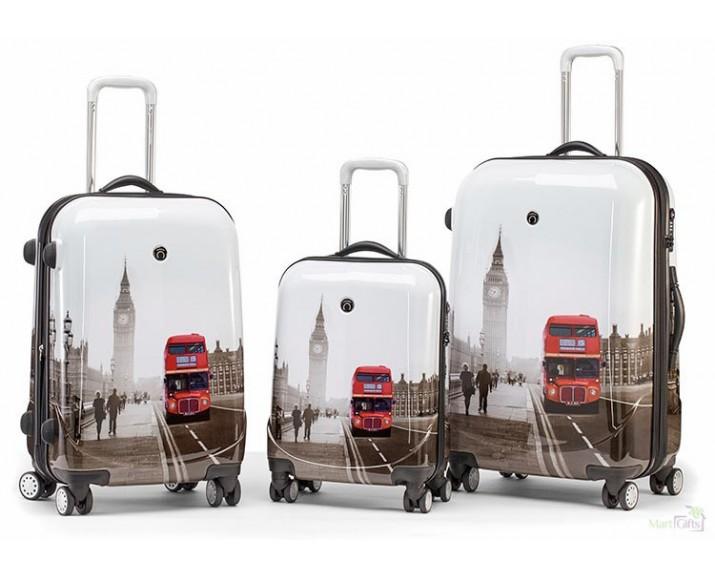 8deb0e6efeb Juego de Maletas Londres Autobús Rojo - Regalos de Empresa