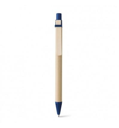 Bolígrafo Personalizado de Papel Craft con Logo Publicitario Color Azul