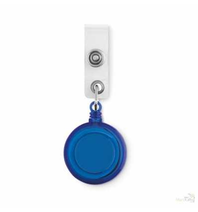 Insignia con Clip para Acreditaciones Promocional Color Azul