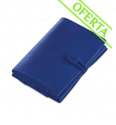 Bolsa de la Compra Plegable en Poliéster para Merchandising Color Azul Royal Plegada