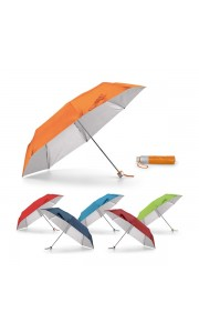 Paraguas Plegable con Interior Plateado