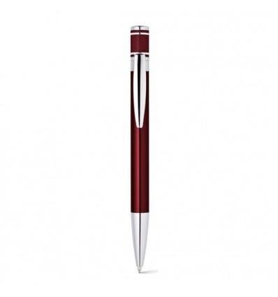 Bolígrafo Publicitario de Aluminio con Clip Ovalado Merchandising Color Burdeos