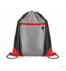 Mochila Saco Personalizada con Rejilla de Color Rojo