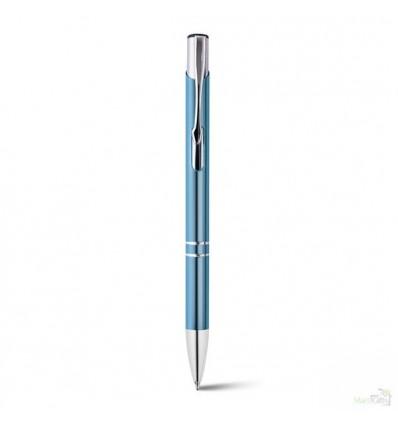 Bolígrafo de Aluminio Personalizado para Empresa Color Azul Claro