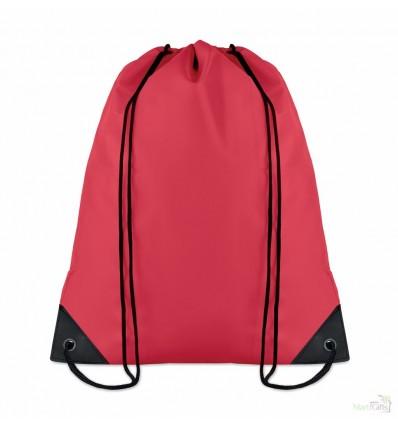 Mochila con Cordones en Poliéster Merchandising Color Rojo