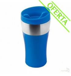 Taza con Doble Capa de Acero Inoxidable Personalizada Color Azul Royal