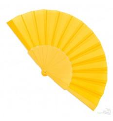 Abanico de Plástico para Publicidad para Regalo Personalizado Color Amarillo