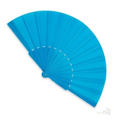 Abanico de Plástico para Publicidad para Regalo Barato Color Azul