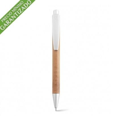 Bolígrafo de Plástico y Bambú con Logo Publicitario