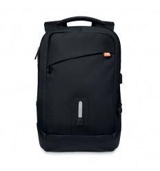 Mochila con Powerbank para Ordenador con Logo Color Negro