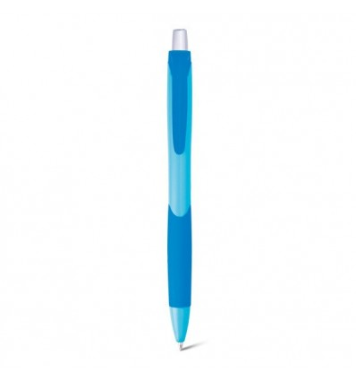 Bolígrafo para Merchandising con Puntera de Silicona Personalizado Azul Claro
