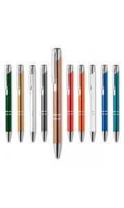 Bolígrafo Anodizado con Pulsador Tinta Azul