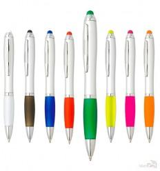 Bolígrafo Giratorio de Plástico con Puntero Táctil Personalizado