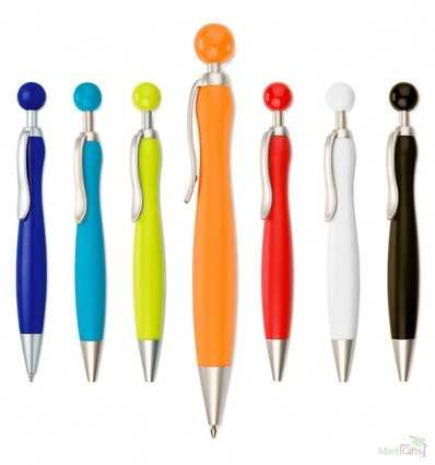 Bolígrafo con Pulsador Redondo Personalizado