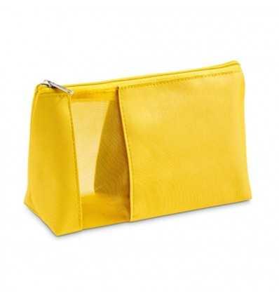 Neceser de Viaje de Microfibr a y Red para Publicidad Promocional Color Amarillo