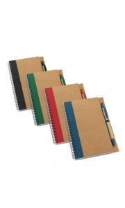 Libreta Publicidad de Papel Craft con Bolígrafo