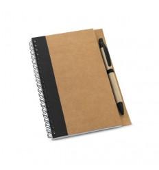 Libreta Publicidad de Papel Craft con Bolígrafo color Negro