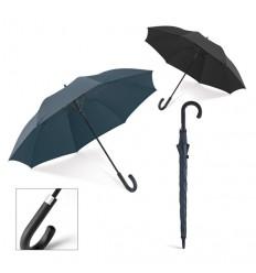 Paraguas Negro con Mango Curvo para logo publicitario