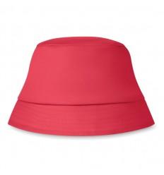 Sombrero de Algodón para la Playa color Rojo