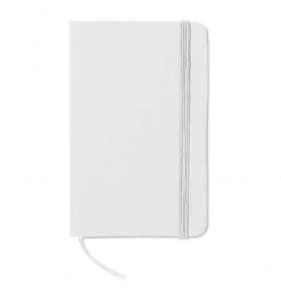 Libreta con Banda Elástica para Publicidad Color Blanco