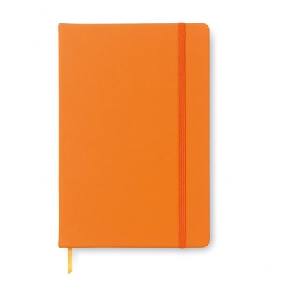 Bloc de Notas con Banda Elástica para Publicidad Color Naranja