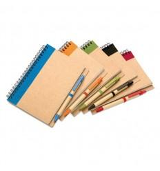Libreta y Bolígrafo Reciclados Publicidad