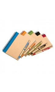 Libreta y Bolígrafo Reciclados