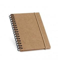 Cuaderno de Cartón con Hojas de Papel Reciclado Personalizado Color Negro