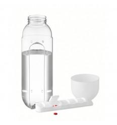 Botella de Agua con Pastillero de Merchandising color Blanco