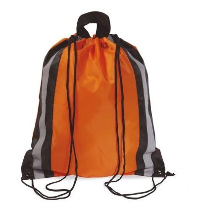 Bolsa Saco con Bandas Reflectantes Merchandising Color Naranja