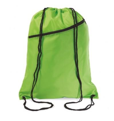 Mochila Grande con Cordones Promocional Color Verde Lima