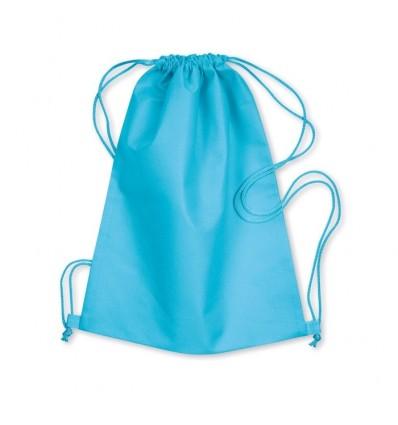 Bolsa Mochila de Non Woven Con Cordones Promocional Color Turquesa