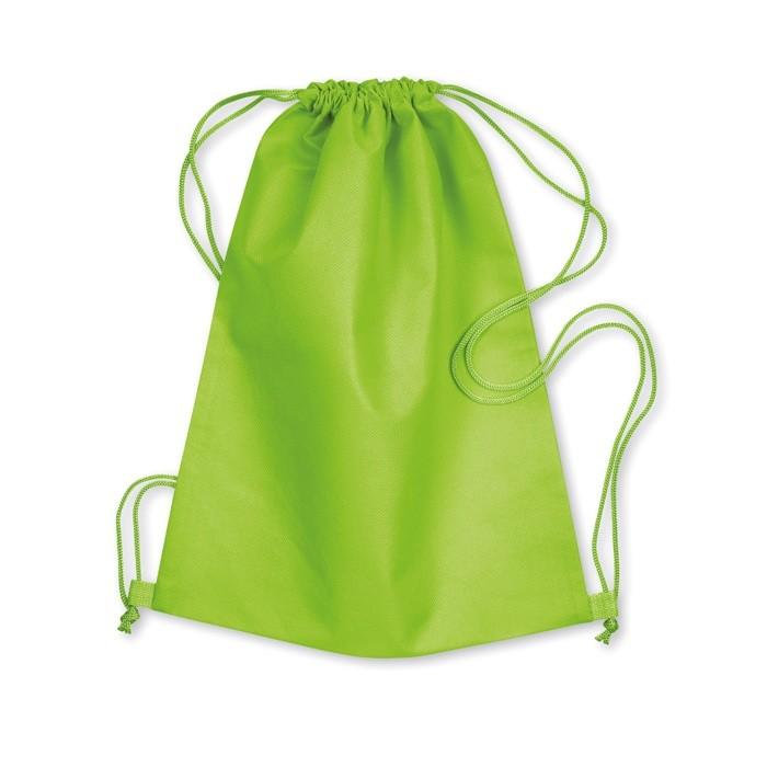 381f8930e Bolsa Mochila de Non Woven Con Cordones para Publicidad Color Verde Lima