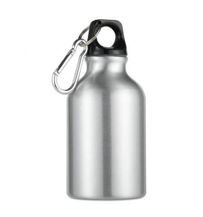 Botella Publicitaria de Aluminio con Mosquetón