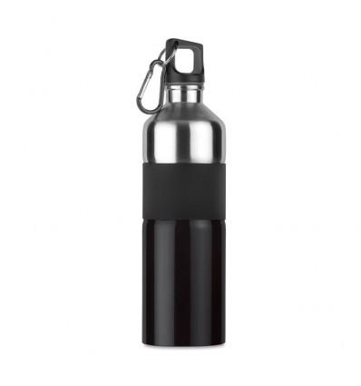 Botella de Acero Publicidad color Negro