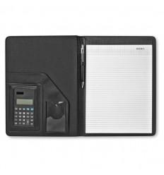 Portafolios A4 con Calculadora Solar Publicidad Color Negro