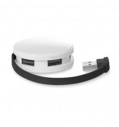 Hub USB Redondo Promocional de 4 Puertos