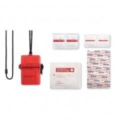 Kit de Primeros Auxilios en Caja Resistente al Agua Personalizado Color Rojo Transparente