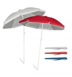 Sombrilla de Playa con Interior Plateado Personalizada