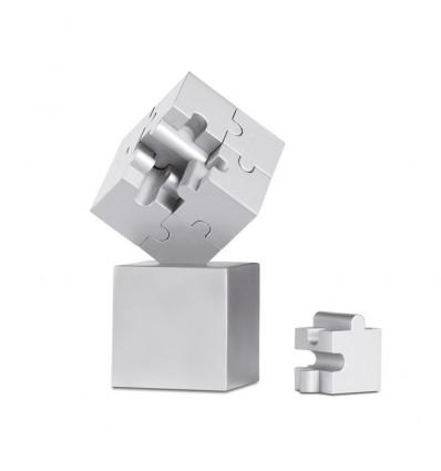 Puzzle 3D Magnético Pisapapeles Promocional Color Plata Mate