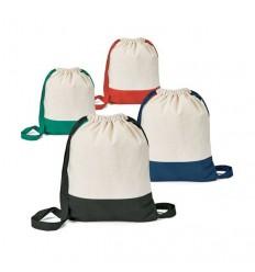 Mochila Saco de Algodón Bicolor Personalizada