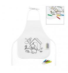 Delantal Infantil para Colorear Personalizado