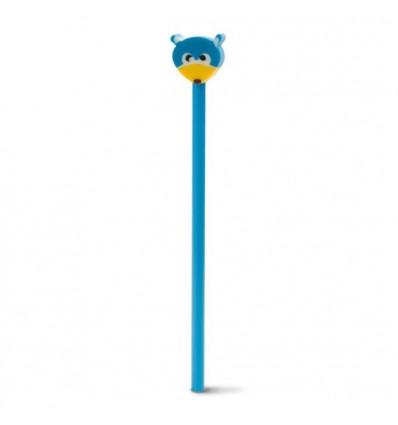 Lápiz con Muñeco de Goma para Regalo de Empresa Color Azul Claro