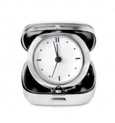 Reloj de Viaje Analógico de Metal Color Plata Brillante