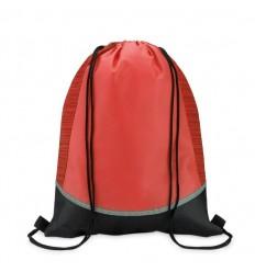 Bolsa de Cuerdas con Laterales Reflectantes color Rojo Publicidad