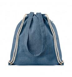 Mochila Saco de Algodón Reciclado para Publicidad color Azul Royal