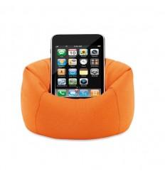 Soporte para Móvil en Forma de Puf Color Naranja