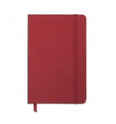 Cuaderno con Tapa de Poliéster de Doble Tono Publicitario Color Rojo